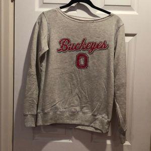 Ohio State Buckeyes sweatshirt.